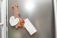 Amazon.com : Kikkerland Corkboard Magnet, Giraffe (MH65) : Office Products