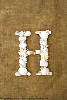 Sea Shell Letter  Monogram, Sea & Beach Craft