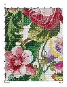 127579-6295d-43492919-m750x740-u9b223 (541x700, 200Kb) Cute Cross Stitch, Cross Stitch Flowers, Cross Stitch Charts, Cross Stitch Patterns, Hand Embroidery Stitches, Embroidery Designs, Holiday Crochet Patterns, Cutwork, Blackwork