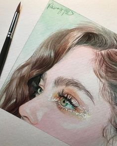Reina Yamada is an artist who works actively in Japan and is the author of many works of watercolor art. The re-adaptation of watercolor paint. Watercolor Portraits, Watercolor Paintings, Art Paintings, Watercolor Eyes, L'art Du Portrait, Pencil Portrait, Art Sketchbook, Aesthetic Art, Beautiful Eyes