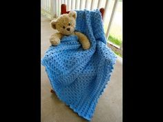 Cabled Cherub Baby Blanket (Part 2) - YouTube