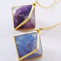 Fluorite necklaces by friedasophie