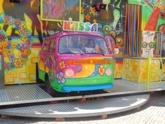 part of an traveling fair attraction? would make a killer paint scheme | VW Bus ☮ pinned by https://www.soundroyalties.com/