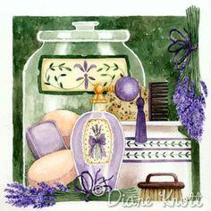 "©Diane Knott  ""Lavender Green I"" ~ Gorgeous for a bathroom :)"
