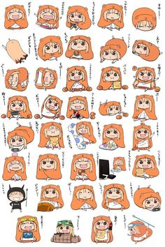 The new issue of Young Jump is set to announce the staff for this summer's anime adaptation of Head Sankaku's Himouto! Umaru-chan, a manga comedy about a little sister who acts tot Manga Anime, Fanarts Anime, Anime Chibi, Anime Characters, Anime Art, Himouto Umaru Chan, Umaru Chan Gif, Art Kawaii, Kawaii Anime