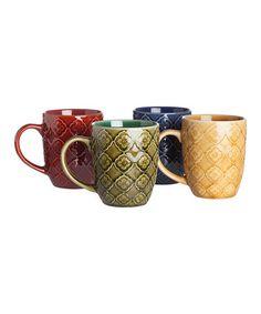 Look what I found on #zulily! Lattice Mugs - Set of Four #zulilyfinds