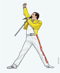 Tatouage Freddie Mercury, Freddie Mercury Tattoo, Queen Freddie Mercury, Music Pics, Music Artwork, Freedy Mercury, Queen Drawing, Queens Wallpaper, Queen Art