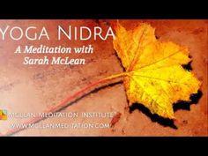 Yoga Nidra Guided by Sarah McLean Guided Meditation Audio, Yoga Nidra Meditation, Meditation Youtube, Sarah Mclean, Sleep Better Tips, Sleep Yoga, Learn To Meditate, Affirmations, Mindfulness