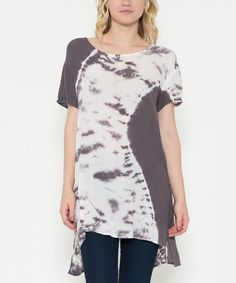 Another great find on #zulily! Chocolate Brown Tie-Dye Tunic #zulilyfinds