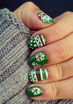 Christmas Sweater Nails, Snowflake Christmas Sweater nail, Christmas Sweater: Nails Edition