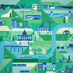 We worked with Calder Bateman and the city of Edmonton to create this map that highlights the programs and services the City provides. Looks like a nice place #map #illustration #bestvector #muti #edmonton by studiomuti http://ift.tt/1NOtMBV