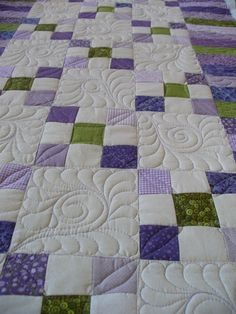 love the colors Patchwork Quilting, Quilting Stitch Patterns, Machine Quilting Patterns, Jellyroll Quilts, Quilt Stitching, Longarm Quilting, Quilt Patterns, Quilting Stencils, Quilting Templates