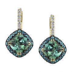 Omi Prive: Tourmaline, Alexandrite and Diamond Earrings