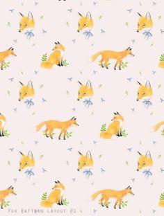 fox wallpaper for children's bathroom/playroom. love.