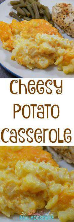 Cheesy Potato Casserole. This is our favorite dish for Thanksgiving. I make it every year.