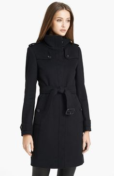 Burberry+London+'Basingstoke'+Wool+&+Cashmere+Coat+available+at+#Nordstrom