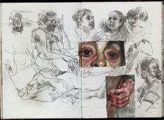 art sketchbook Spreads from my life drawing sketchbook from this year. Some of the ballpoint and watercolour drawings are from photo references. Watercolour Drawings, Painting & Drawing, Art Drawings, Kunst Inspo, Art Inspo, Art And Illustration, Kunst Portfolio, Gcse Art Sketchbook, Sketchbooks