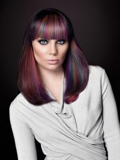 These are the colors that were in my hair when Penny did it for me in Texas....