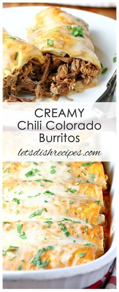 Creamy Chili Colorado Burritos Recipe: Traditional chili Colorado gets a creamy twist in this tasty, slow cooked beef burrito recipe. #burritos #beef #recipes