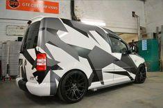 #VWTouranInterior Volkswagen Touran, Vw T5, Vw Caddy Tuning, Caddy Van, Vw Caddy Maxi, Kombi Home, Van Wrap, Camo Designs, New Tyres