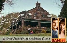"""The Summer Cottage from """"Dan in Real Life"""" The movie was filmed almost entirely on location in an summer house known as Riven Rock in Jamestown, Rhode Island. It was built in 1911 and has been in the same family for generations. You can rent it during the I Love House, House On The Rock, House Beautiful, Dan In Real Life, Waterfront Cottage, Home Design Magazines, Movie Sites, Steve Carell, See Movie"""