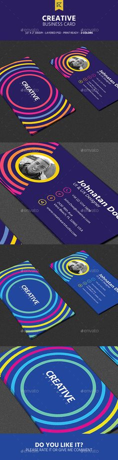 Creative Business Card - Creative Business Cards Download here: https://graphicriver.net/item/creative-business-card/19644804?ref=classicdesignp
