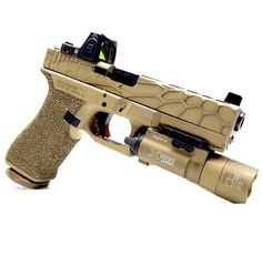 Tricked out Glock.