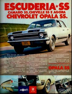 Anúncio Chevrolet Opala SS - 1971