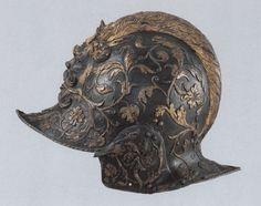 Burgonet once belonging to Henry II of France. (Louvre)