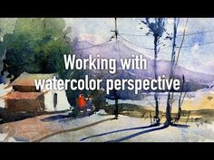 Watercolor lesson, tip and techniques - working with perspective, light & shades - YouTube