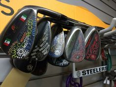 "May 28, 2014: ""Vokey's everywhere.  Thanks,"" said Champions Tour player Rocco Mediate ‏of his collection of retired wedges."