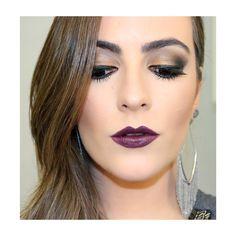 Maquiagem usando produtos Modern Asia Boticário Tutorial: https://www.youtube.com/watch?v=dDzadwKhOkw Purple Lips Gold makeup