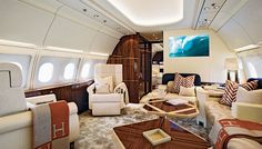 Their clients want to feel at home even when they are 40,000 feet in the air, so private-jet interior designers create cabins that reflect the owners' tastes and address their desires in terms of
