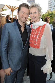 Jane Lynch and Matthew Morrison honor Carol Burnett at the Backstage at the Geffen gala