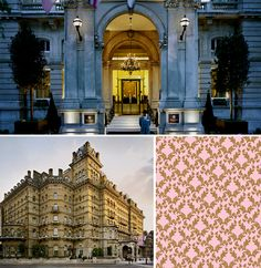 Inspired by the Langham Hotel Wallpaper Pattern