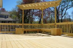 triangular pergola and planters Chatham New Jersey - Picture 1728 - Decks.com