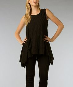 Take a look at this Black Sidetail Tunic by Find Your Style: Women's Apparel on @zulily today!