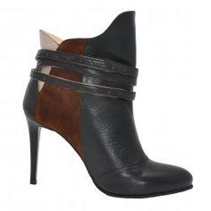 Botine BELLA negru Marilyn Monroe, Booty, Ankle, Heels, Products, Fashion, Moda, Swag, Wall Plug