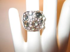 LIA SOPHIA ROCK CANDY RING, SILVER COLOR, BEAUTIFUL RING, SIZE 6, MUST SEE!