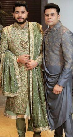 Sherwani For Men Wedding, Wedding Dresses Men Indian, Groom Wedding Dress, Mens Sherwani, Sherwani Groom, Wedding Men, Indian Men Fashion, Mens Fashion Wear, Suit Fashion