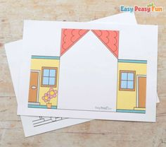 Paper House My Family Craft - Easy Peasy and Fun Preschool Planner, Fall Preschool Activities, Preschool Art, Easy Crafts, Crafts For Kids, Arts And Crafts, Paper Crafts, House Colouring Pages, Cartoon Quotes