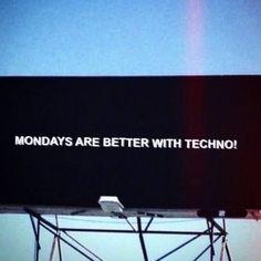 good morning #mondaymood #techno #turnthemusicon #montag
