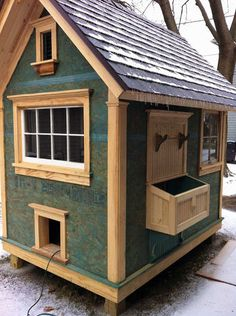 of your home-made coops and runs! Pictures of your home-made coops and runs!Pictures of your home-made coops and runs! Chicken Coop Run, Portable Chicken Coop, Chicken Coup, Backyard Chicken Coops, Building A Chicken Coop, Building A Shed, Chickens Backyard, Chicken Feeders, Chicken Tractors