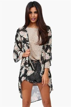 Floral Kimono I think I need one. So cute!