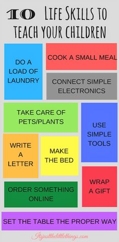 10 life skills to teach children before they are twelve #parentingtipsandtricks