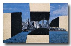 Ellsworth Kelly, Four Blacks and White, Upper Manhattan, 1957. Collage, 3-1/2 x 5-1/2 inches.