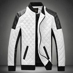 Contemporary Quilted Monochrome Bomber Jacket – U R B A N S T O X