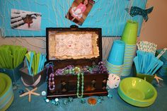 Mermaid Under the Sea Birthday Party - Decorations - Treasure Chest