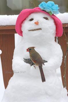 Snow Lady - with Bird Seeds