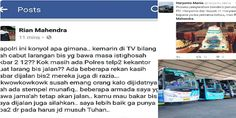 ALLAHU AKBAR! Pemilik PO Haryanto: Kamu Mau bakar Bus Saya Juga Nggak Apa-Apa. Mending Nggak Punya Apa-Apa Daripada Harus Jadi Musuh Tuhan  [portalpiyungan.info]Sebuah status Facebook yang ditulis oleh Rian Mahendra pemilik PO Haryanto sebuah perusahaan bus yang cukup besar dan terkenal di Jawa Tengah sungguh menggetarkan. Setelah berkomitmen untuk mengangkut jamaah yang akan berangkat ke Jakarta mengikuti Aksi 212 Rian menyatakan perusahaannya mendapatkan serangan teror berupa telepon dari…